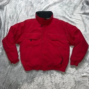 Eddie Bauer down red coat Men's size L